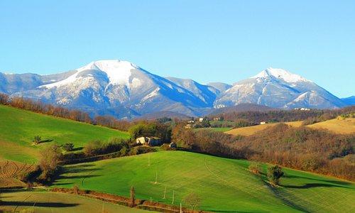 Zicht op Monte Catria