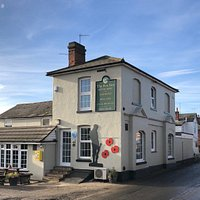 The Pub on a Bright Winters Day with our Soldier and Poppy's on