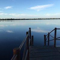 Laguna Manialtepec La puesta del sol