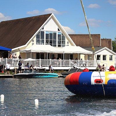 Fun inflatable rides at Lakeside Ski & Wake