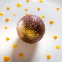 Sfera tropicale al cioccolato