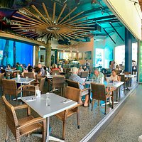 Dundee's at the Cairns Aquarium, open for breakfast, lunch and dinner from 8am daily.   We also have a coffee shop within the restaurant that caters for those who wish to have coffee, tea, cakes and light snacks (dine in or take-away)