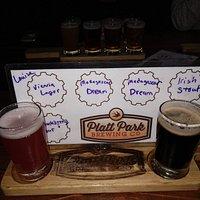 My beer flight