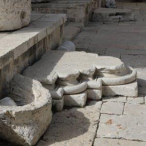 Remains of crusader cross