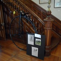a penny farthing bicycle