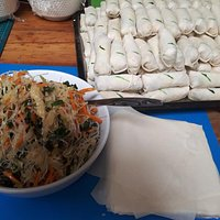One of our food Mornington Thai home make spring roll