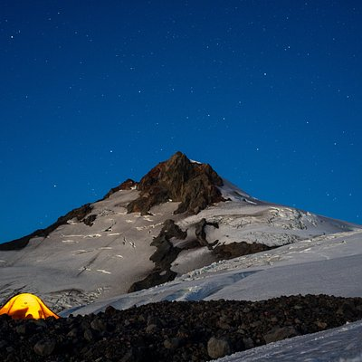 Volcán Choshuenco y su hermoso glaciar oeste