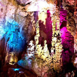Canelobre caves tour, we take you to the highest caves you can visit in Spain, a magic place where you'll see the magnificent stalactites with more than 25 meters high.