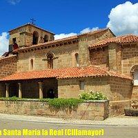 Ruta del Románico palentino en bicicleta. Iglesia de Santa Maria la Real (Cillamayor).