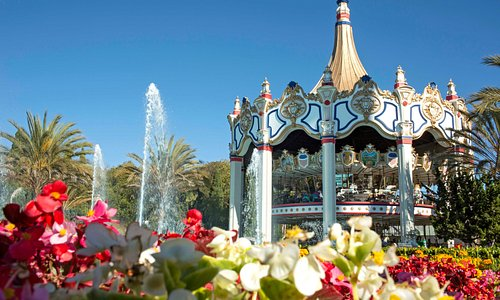 The iconic double-decker carousel is the tallest of its kind in the world.