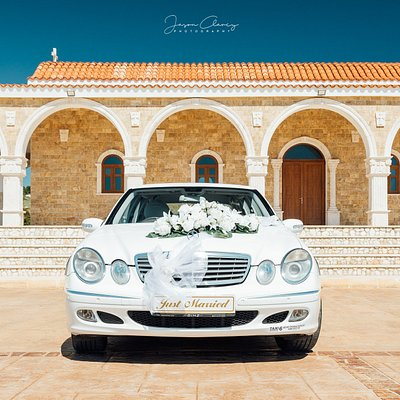 wedding car, bridal limosine,