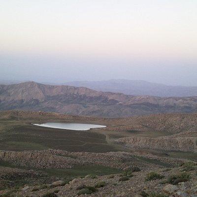 دریاچه برم فیروز سپیدان در تابستان