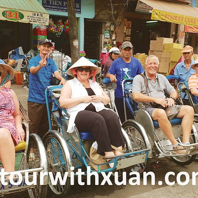 Trishaw ride in Saigon