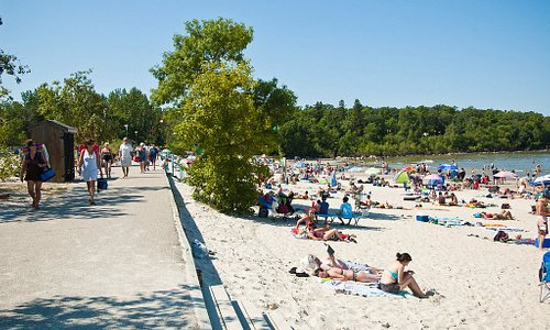 We are only 500 feet from the East gates of Grand Beach!!
