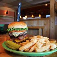 """The """"Gutt Buster"""" Burger"""