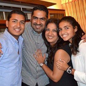 Raj & Sammy with our kids Krish and Shivani