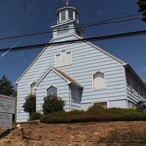 This church has a steeple