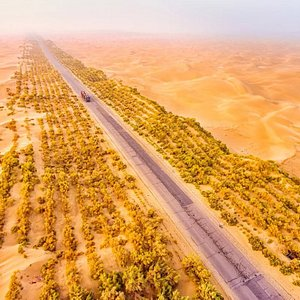 desert highway of xinjiang, Connecting the county of niya(minfeng) to the luntai county(bugur) which is more  than 750 km