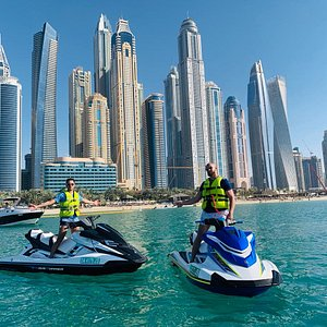 Dubai Skyline is the best, and no better way than jet ski to admire it