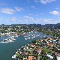 Beautiful views of the Rodney Bay Marina