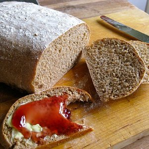 Nothing better than bread and jam - when it's home made bread of course!
