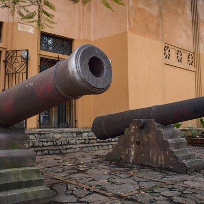 Entrada principal del Museo de Antropología e Historia de San Pedro Sula
