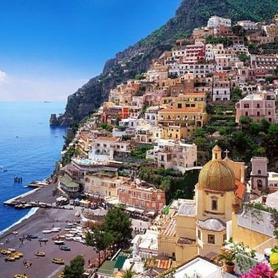 Semi Private Pompeii, Positano & Amalfi Coast Tour with Lunch Included