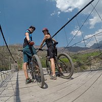 Bike Tour Chicamocha Canyon - Santander Colombia The route is a descent of approximately 14 km and 6 km that includes ascents and planes on the side of the mountain that leads to the imposing Chicamocha Canyon. #bikecolombia #bikeexperiences #mountainbike #biketours