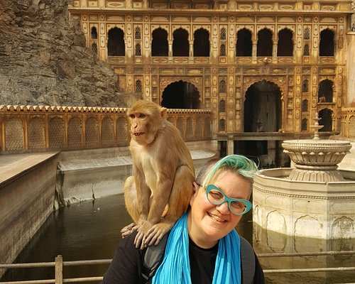 Shahid took us to the monkey temple where we had so much fun.