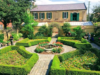The garden at the back of the Owens-Thomas House