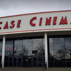 The outside of the cinema.