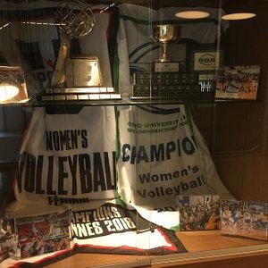 u sports championship Trophy & Banner at Mattamy Athletic Centre