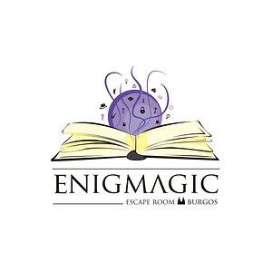 Logotipo principal Enigmagic Escape Room Burgos.  Diseñado por Elliot Lao.