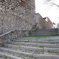 Una scalinata