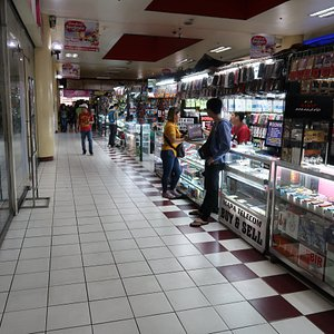 'Center Mall' sales counters.