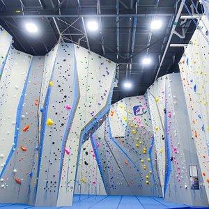 Main roped climbing area