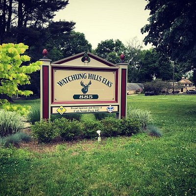 The entrance to our property - 6.5 acres in beautiful and safe Warren Township, NJ