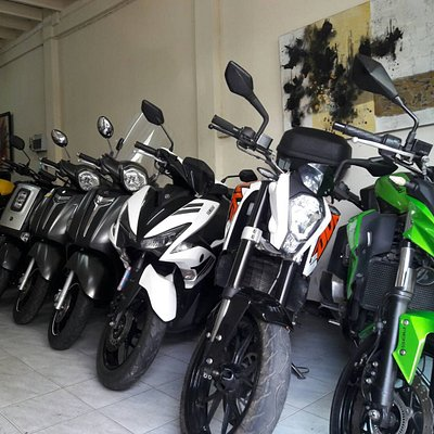 We offer a wide variety of scooters, motorbikes and touring motorcycles.