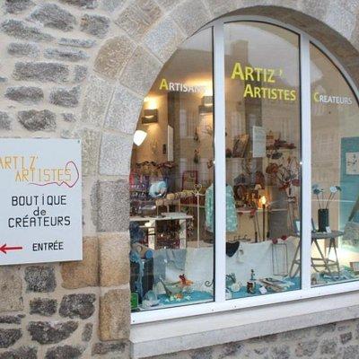 Entrée de la boutique Artizartistes.