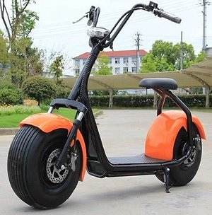Onze oranje opvallende scooters
