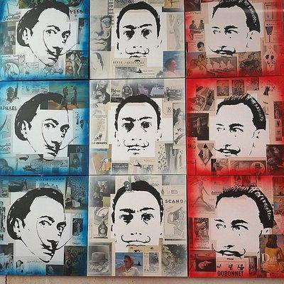 Triptyque représentant Dali