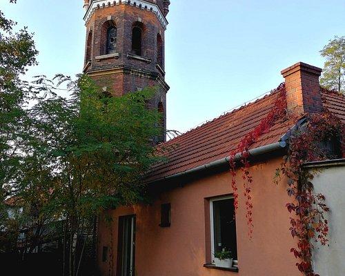 Ceramic studio is located under this antique tower.