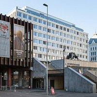 Entrance on the ground floor below Oslo Konserthus.