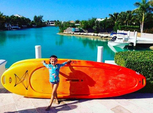 Paddleboard rentals at the villas!