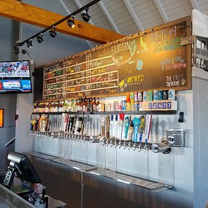 Draft beer selection at The Grey Taproom, Navarre