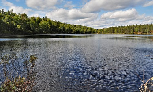 I believe this is Leece Lake. Very pristine and quiet. Saw a few people fishing.