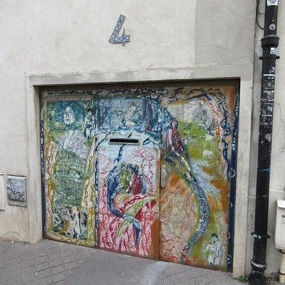 4 rue Buot - Fresque de Artiste Ouvrier
