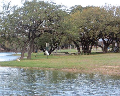 Playground equipment. Deer Creek Lower Lake, Dripping Springs, TX