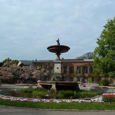 Universitetsfontänen på Universitetsplatsen i Lund