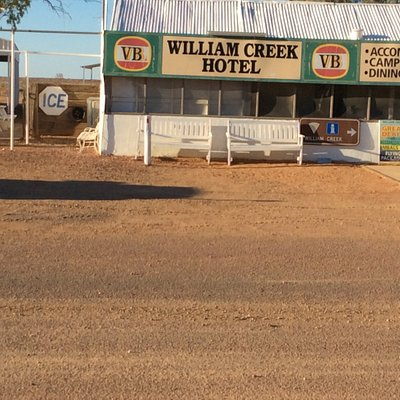 William creek hotel great meal with the owner of the town a very friendly person